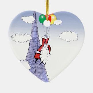 Noël heureux de ShardArt par Fernandes élégant Ornement Cœur En Céramique