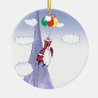 Noël heureux de ShardArt par Fernandes élégant Ornement Rond En Céramique