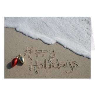 Noël heureux Hanoukka de carte de plage de