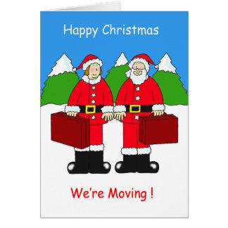 Noël heureux, nous nous déplaçons ! carte de vœux