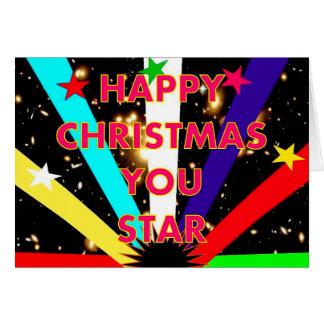 Noël heureux vous tenez le premier rôle la carte