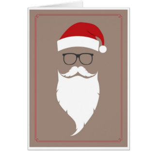 Noël - hippie Père Noël Carte De Vœux