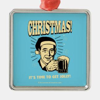 Noël : Il est temps d'obtenir très Ornement Carré Argenté