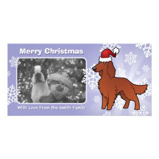 Noël irlandais/anglais/poseur de Gordon/R&W Photocartes Personnalisées