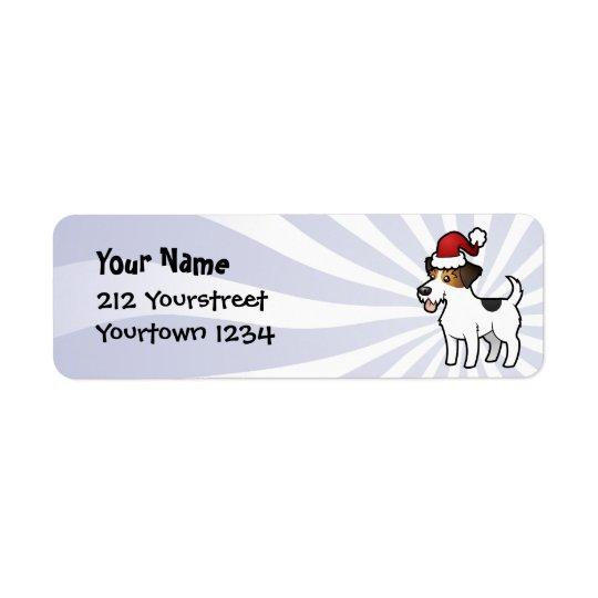 Noël Jack Russell Terrier Étiquettes D'adresse Retour