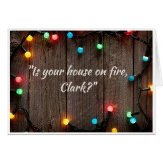 Noël - le feu carte de vœux