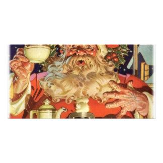 Noël le père noël cartes avec photo