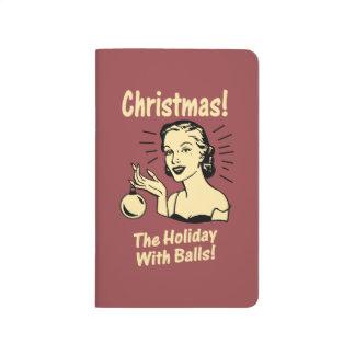 Noël : Les vacances avec des boules Carnet De Poche