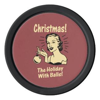 Noël : Les vacances avec des boules Rouleau De Jetons De Poker