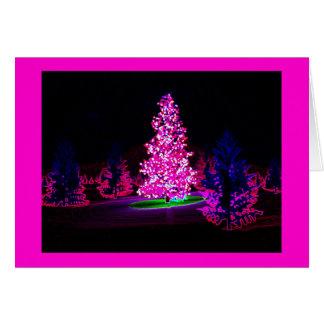 Noël lumineux carte de vœux