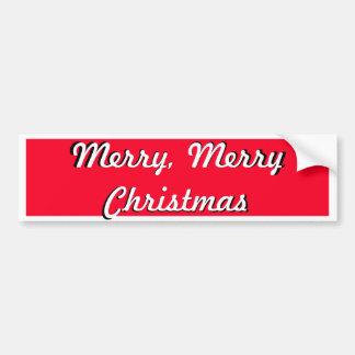 Noël lumineux de rouge de joyeux concepteur de autocollant de voiture