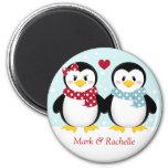 Noël Magent de pingouins de vacances Magnets Pour Réfrigérateur