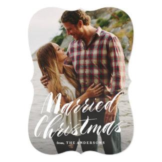 Noël marié carton d'invitation  12,7 cm x 17,78 cm