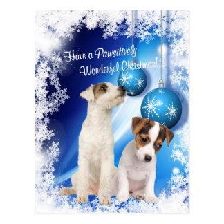 Noël merveilleux Wish2 de Jack Russell Pawsitively Cartes Postales