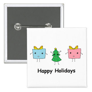 Noël mignon badge avec épingle