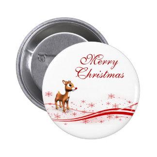 Noël mignon de renne de bande dessinée badges avec agrafe