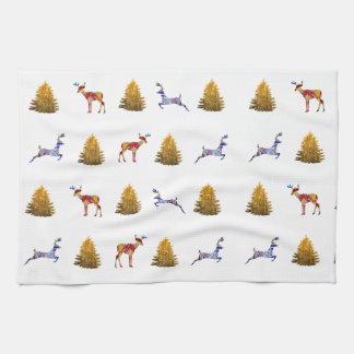 Noël mignon de serviette de thé