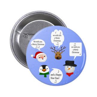 Noël mignon et drôle - bouton pin's