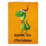 Noël mignon T-rex Cartes De Vœux