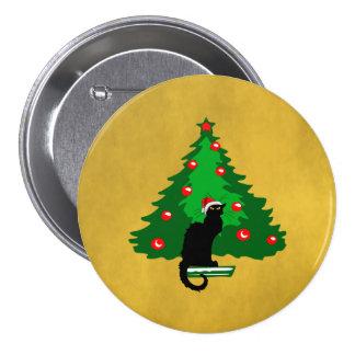 Noël Noir de conversation Badge