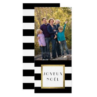 """Noël noir et blanc de photo de """"Joyeux Noël"""" de Carton D'invitation 10,16 Cm X 23,49 Cm"""