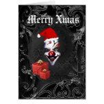 Noël noir gothique drôle de père Noël Carte De Vœux