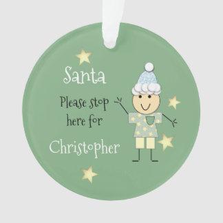 Noël nommé personnalisé Père Noël de vert de petit