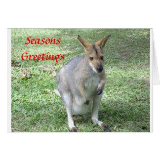 Noël orienté australien et carte de fin de année