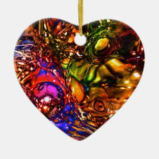 Noël Ornement Cœur En Céramique
