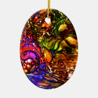 Noël Ornement Ovale En Céramique