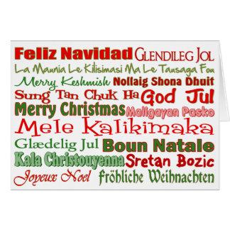 Noël partout dans le monde carte de vœux