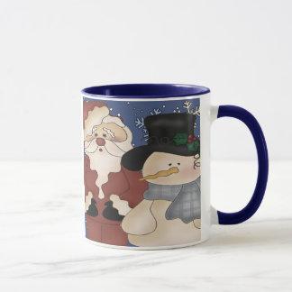 Noël Père Noël et bonhomme de neige Mugs