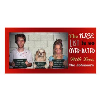 Noël personnalisable drôle de photo de famille photocartes