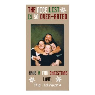 Noël personnalisable drôle photocarte customisée