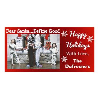 Noël personnalisé drôle photocarte personnalisée