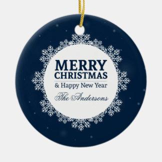 Noël personnalisé et ornement de la nouvelle année