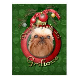 Noël - plate-forme les halls - griffons carte postale