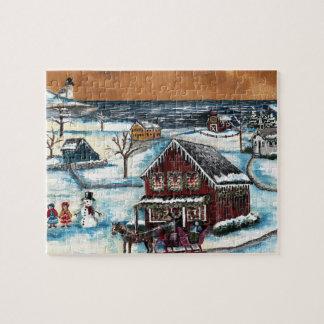 Noël primitif de la Nouvelle Angleterre Puzzle