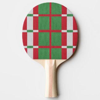 Noël rayé raquette de ping pong