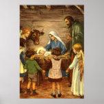Noël religieux vintage, nativité, bébé Jésus