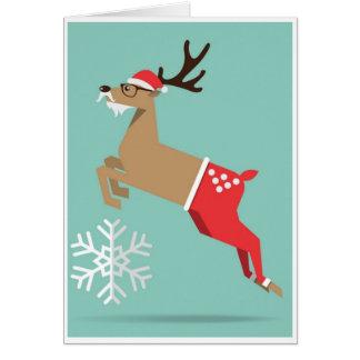 Noël - renne carte de vœux