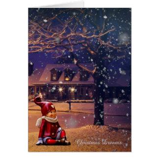 Noël rêve la carte de vacances d'Elf