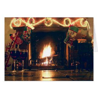 Noël Romance et carte personnalisable de chaleur
