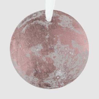 Noël rose de pleine lune d'or