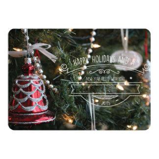 Noël rouge de Bell Carton D'invitation 12,7 Cm X 17,78 Cm