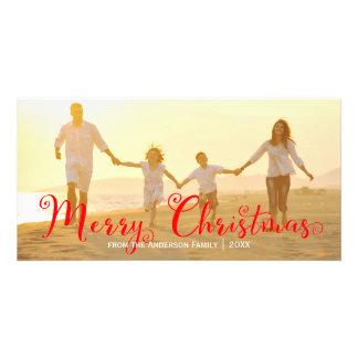 Noël rouge de manuscrit Joyeux - carte photo Photocartes