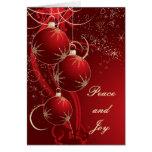 Noël rouge élégant cartes de vœux