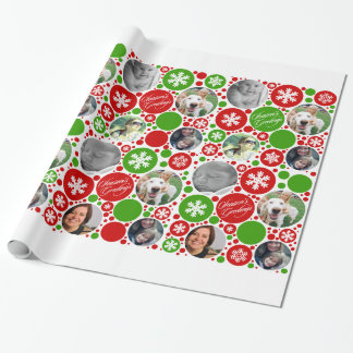 Noël rouge et vert papier cadeau noël