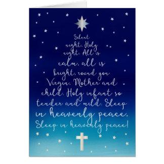 Noël saint de chrétien de nuit de nuit silencieuse carte de vœux
