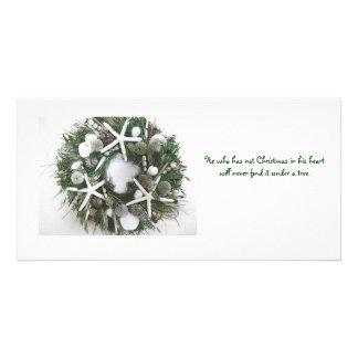 Noël Shell tressent Cartes Avec Photo